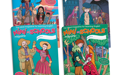 Lot annuel de 4 magazines d'anglais pour enfants